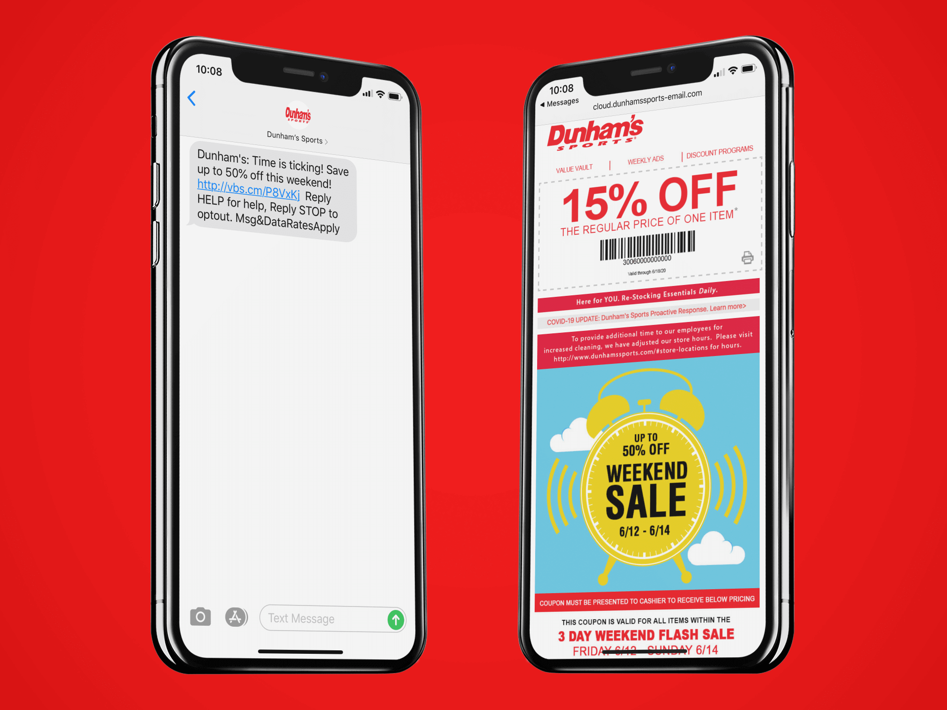 example of a mobile coupon