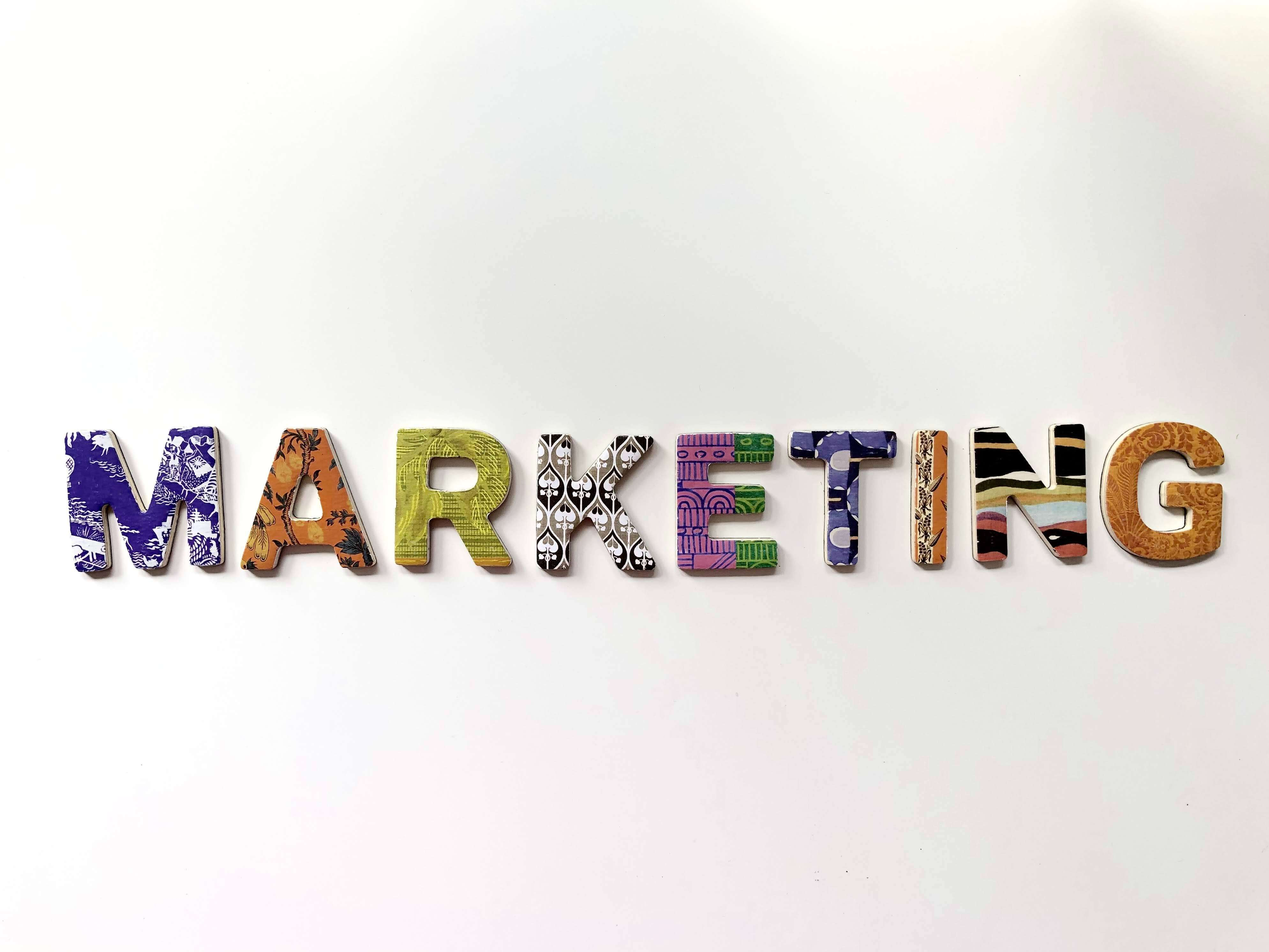 sign that says marketing
